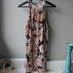 LoveRiche velvety floral dress  NWT